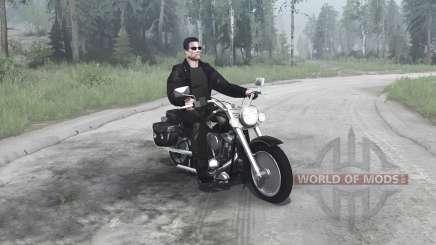 Harley-Davidson FLSTF Fat Boy para MudRunner