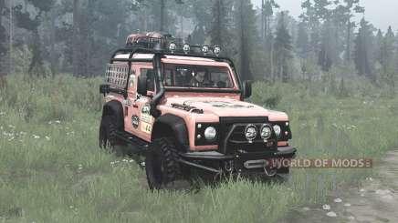 Land Rover Defender 90 Station Wagon expedition para MudRunner