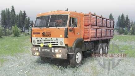 A 6x4 KamAZ 5320 v2.0 para Spin Tires