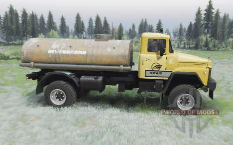KrAZ 260 4x4 amarelo para Spin Tires