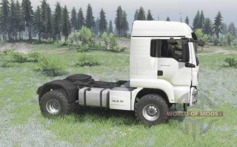 MAN TGS 18.440 4x4 white v1.3 para Spin Tires