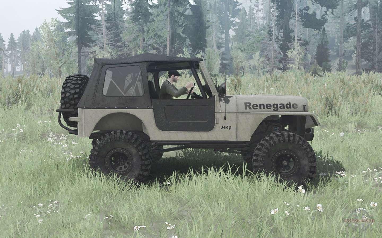 Jeep Cj 7 Renegade Overland Para Mudrunner