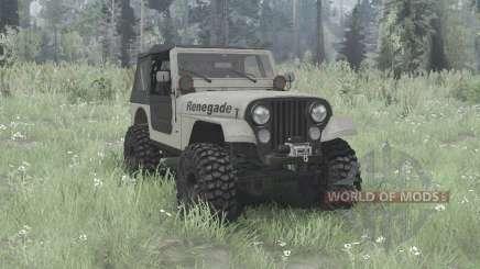 Jeep CJ-7 Renegade overland para MudRunner