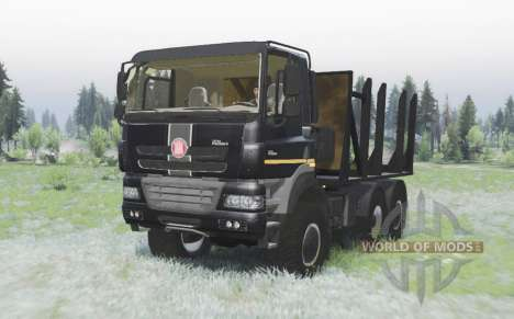 Tatra Phoenix T158-8P5 6x6 2011 black v1.2 para Spin Tires