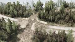 A construção da estrada de v1.1 para MudRunner