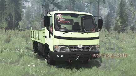 Hino Dutro 2008 three-axle para MudRunner