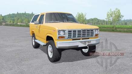 Ford Bronco XLT (U150) 1981 v1.3 para Farming Simulator 2017