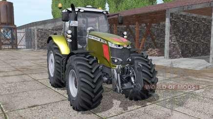 Massey Ferguson 7718 S gold design v1.1 para Farming Simulator 2017