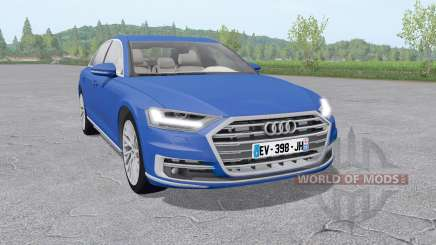 Audi A8 TFSI quattro (D5) 2018 v2.0 para Farming Simulator 2017