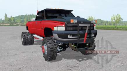 Dodge Ram 3500 Club Cab 1994 lifted para Farming Simulator 2017