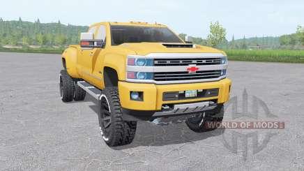 Chevrolet Silverado 3500 HD Crew Cab 2015 para Farming Simulator 2017