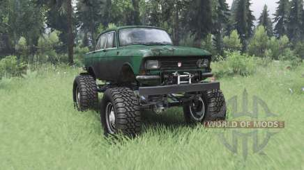 Moskvich 412 monster truck para Spin Tires