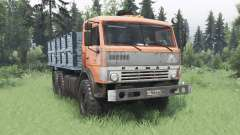 KamAZ 43114 laranja v1.2 para Spin Tires