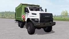 Ural ao lado de um caminhão de lixo