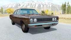 Dodge Coronet sedan (WL-41) 1968 v3.1 para BeamNG Drive