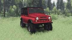 UAZ 469 preto-vermelho para Spin Tires