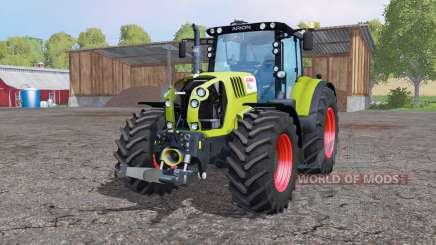CLAAS Arion 650 rodas duplas para Farming Simulator 2015