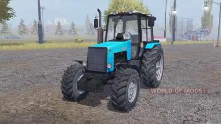 MTZ-1221 Bielorrússia azul brilhante para Farming Simulator 2013