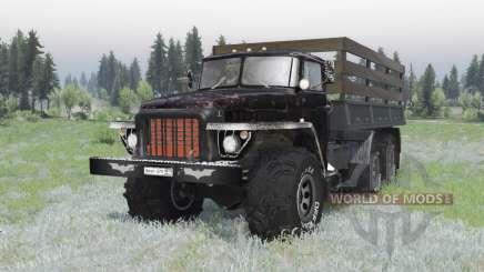 Ural 375 6x6 preto para Spin Tires