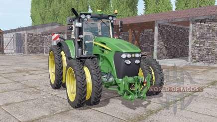 John Deere 7730 narrow double wheels para Farming Simulator 2017