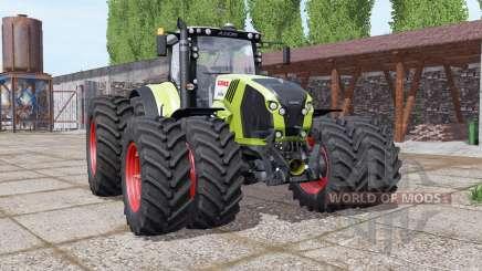 CLAAS Axion 870 double wheels para Farming Simulator 2017