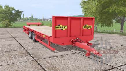 Herbst 24FT low loader para Farming Simulator 2017