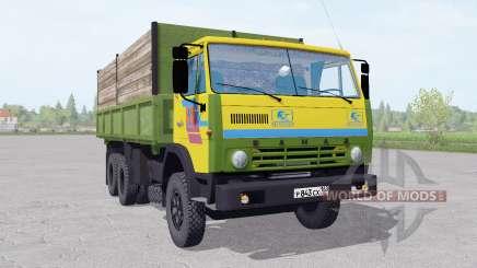 KamAZ 55102 com um trailer v1.1 para Farming Simulator 2017