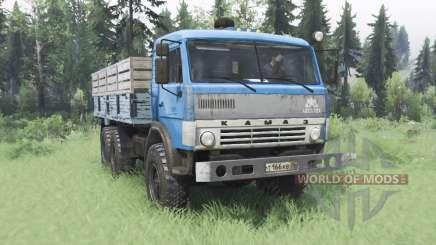 KamAZ 43114 azul v1.2 para Spin Tires