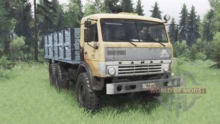KamAZ 43114 suave de laranja-v1.2 para Spin Tires