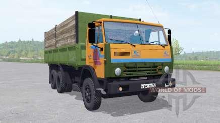 KamAZ 55102 com um trailer v1.2 para Farming Simulator 2017