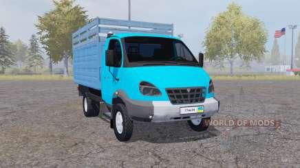 GAZ 3310 Valday 2004 azul para Farming Simulator 2013