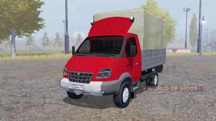 GAZ 3310 Valday 2004 vermelha para Farming Simulator 2013