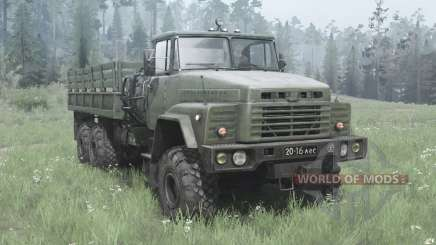 KrAZ 260-escuro, cinza-verde para MudRunner