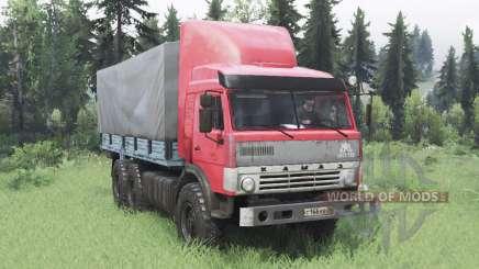 KamAZ 43114 vermelho v1.2 para Spin Tires