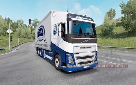 Volvo FH16 750 Globetrotter XL cab 2014 Tandem para Euro Truck Simulator 2