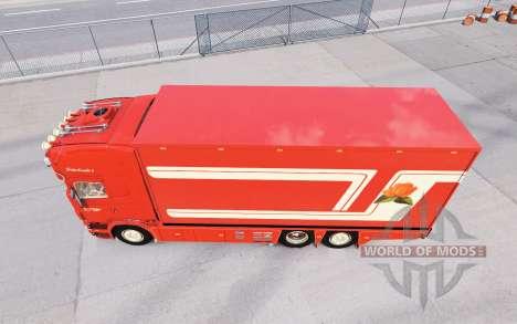 Scania R620 Fleurs para American Truck Simulator