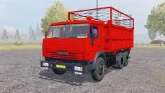 KamAZ 55102 com um trailer para Farming Simulator 2013