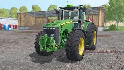 A John Deere 8530 rodas de pesos para Farming Simulator 2015