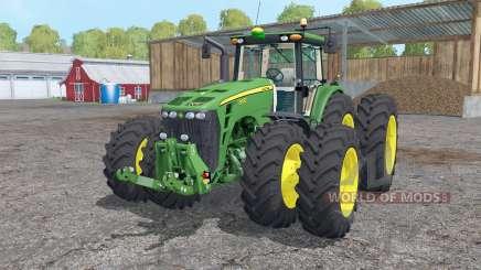 John Deere 8530 twin wheels para Farming Simulator 2015