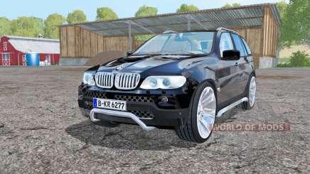 BMW X5 (E53) 2004 black para Farming Simulator 2015