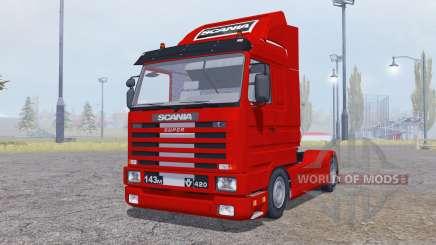 Scania 143M 420 Streamline 1991 para Farming Simulator 2013