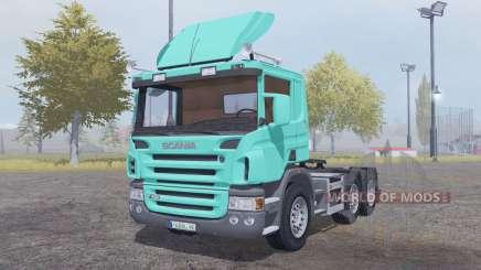 Scania P420 bright turquoise para Farming Simulator 2013