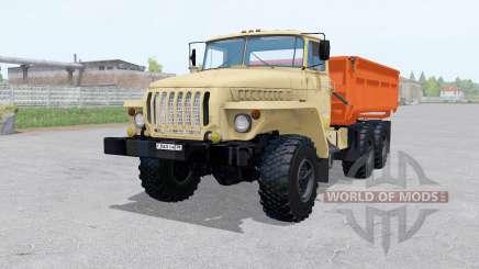 Ural 5557 6x6 com reboque para Farming Simulator 2017