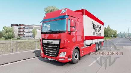 DAF XF Espaço da Cabine em Tandem para Euro Truck Simulator 2