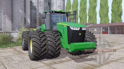 John Deere 9570R twin wheels para Farming Simulator 2017