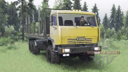 KamAZ 65111 moderadamente amarelo para Spin Tires