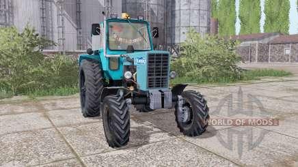 MTZ 82 Bielorrússia trator de pneus rodas duplas para Farming Simulator 2017