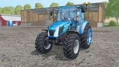 New Holland T4.75 interactive control para Farming Simulator 2015