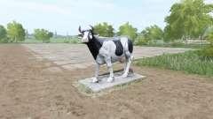 Uma escultura de uma vaca para Farming Simulator 2017