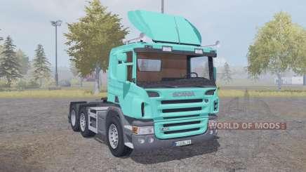 Scania P420 bright turquoise v2.2 para Farming Simulator 2013